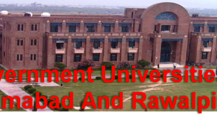 Government Universities In Islamabad And Rawalpindi