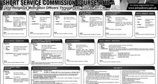 Pakistan Navy Recruitment 2018-A Through Short Service Commission Apply Online Registration