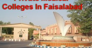 Private Medical Colleges In Faisalabad
