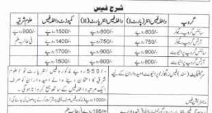 BISE Gujranwala Board Inter Part 1, 2 Admissions 2018 Form, Fee, Date Schedule