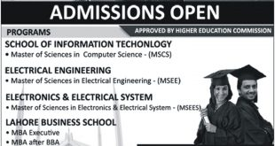 UOL Islamabad Campus Admissions 2018 Last Date Apply Online Form