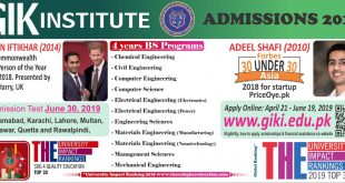 GIKI BS Admissions 2019 Eligibility Criteria Procedure Requirements