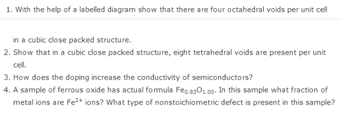 Important Long Question Of Chemistry For Class 12