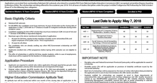 Indigenous Scholarship For Phd 2018 Advertisement, Merit List