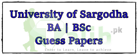 University Of Sargodha BA BSc Guess Papers 2019