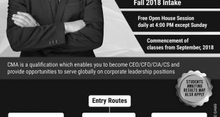 ICMAP Admission Fall 2019 Application Form, Eligibility, Last Date