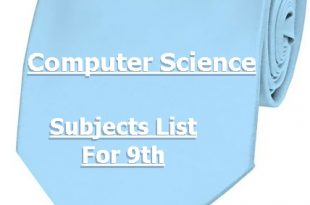 9th Class Computer Science Subjects List