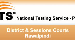 District And Session Court Rawalpindi NTS Result 2018