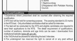 NTS Charge Nurse Result 2019 Answer Keys For Ayub Medical Teaching Institute