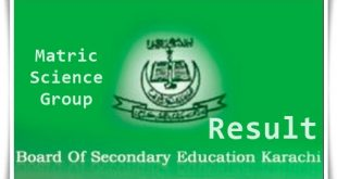 SSC Part 2 Result 2019 Karachi Board Science Group