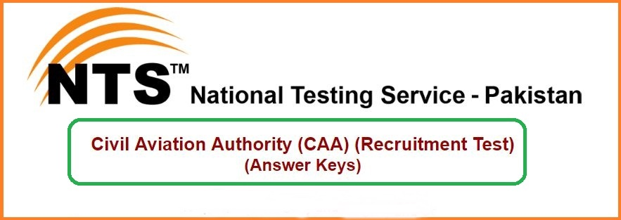 CAA Assistant Director Entry Test Result 2019 NTS Answer Keys