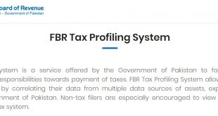 FBR Tax Profile System To Check Assets Information On NADRA