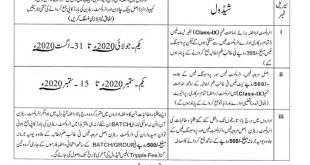 Lahore Board 9th Class Registration 2020